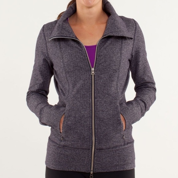 lululemon athletica Jackets & Blazers - Lululemon herringbone black swan yoga jacket